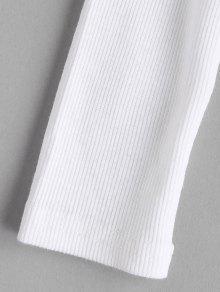 Blanco Hundida Camiseta Acanalada Camiseta Hundida Acanalada M Hundida Blanco Camiseta Acanalada M 751qa1