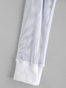 Blanco Hoodie Drop Crop Shoulder S Fishnet 7qxfa4aw