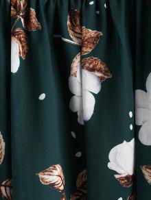 Encaje Aplicaciones Mar Con S De Vestido De Mediana Verde Flores T5Apqp4w