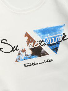 Blanco Xs Letra 233;trica Geom Sudadera Casual zqqFvH8