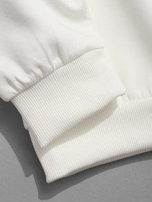 Sudadera Redondo Tradicionales Estampado Xs Con Letras Cuello Y Chinas De Blanco 6qx6n7rO