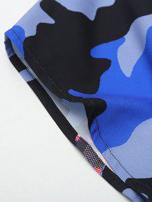 Multicolor Con S Botones Camisa Cubiertos Print Plaid Camo xqwtBpTY