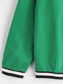 Verde Sleeve Mediana Stripes Panel Raglan Primavera S Sudadera qRw8UvR
