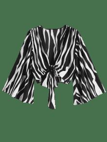 Manga Con Zebra De De Bell Pirnt M Camisa Multicolor Corta Sleeve Lazo Tq57XHw