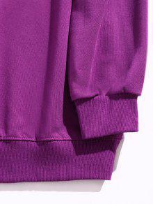 Letter 250;rpura Print Sweatshirt P Streetwear S 4I0pqdpwx