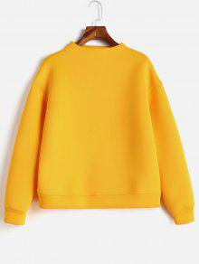 Plain Sweatshirt Cerveza L Mock Neck qqTUrH