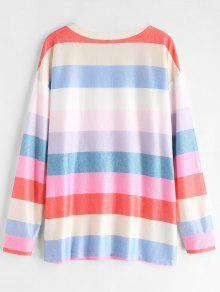 S Multi Camiseta Drop Shoulder Rainbow xTPwqInZp