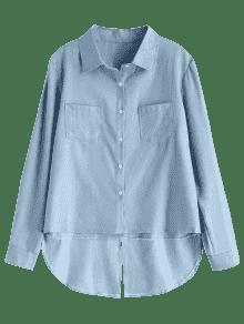Camisa Marino Azul Baja Alta L Chambray qU4rTWq