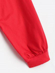 Descubiertos Hombros Rojo Y Con Camiseta Hombros Descubiertos wSTxAC5qXn