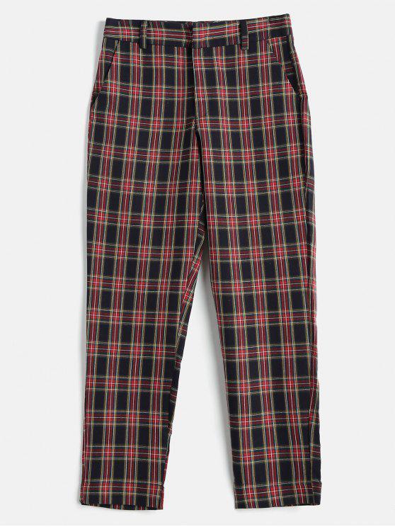 Pantalon à Carreaux Zippé - Multi M