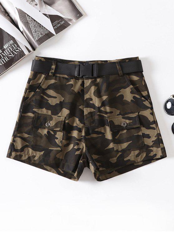 Pantaloncini Di Camouflage Con Cintura - ACU Camouflage L