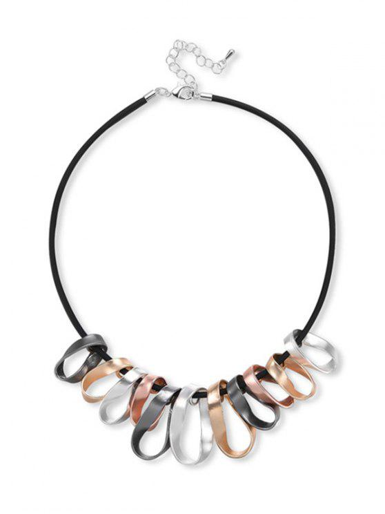 shops Twisted Circle Collarbone Necklace - BLACK