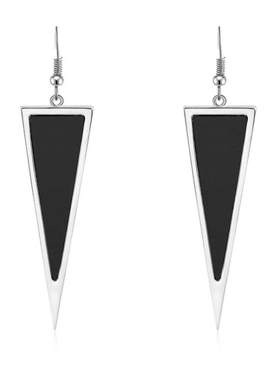 outfit Triangle Geometric Shape Drop Earrings - BLACK