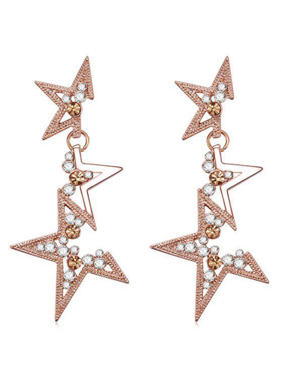 D'oreilles D'étoile Boucles Strass Forme En QCsxtBdhr
