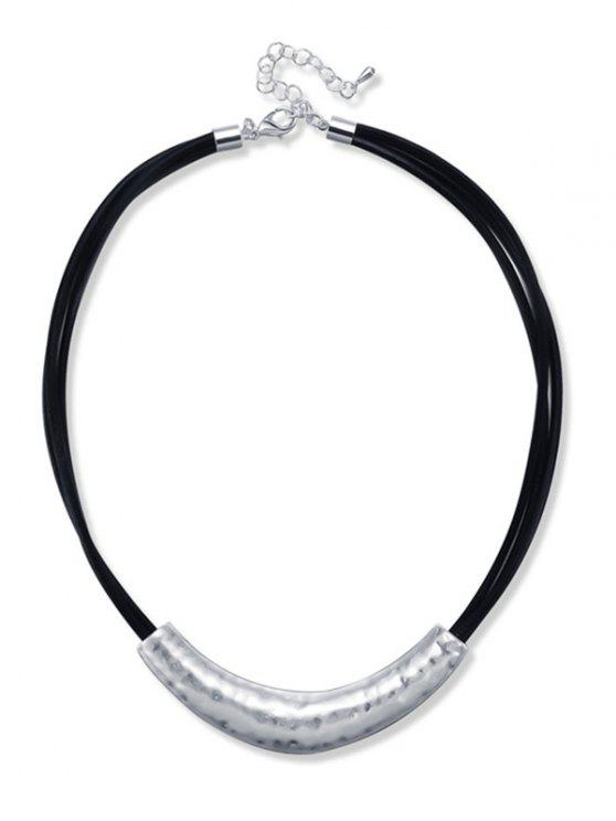 Collier ras du cou en alliage simple - Noir