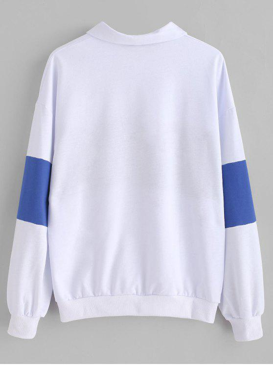 Sweat shirt Lettre shirt shirt Lettre BrodéeBlanc BrodéeBlanc BrodéeBlanc Lettre Sweat Sweat 9WE2IbeHYD