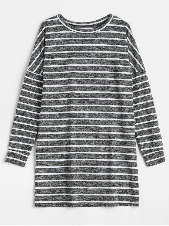 chic Striped Shift Dress - MULTI M