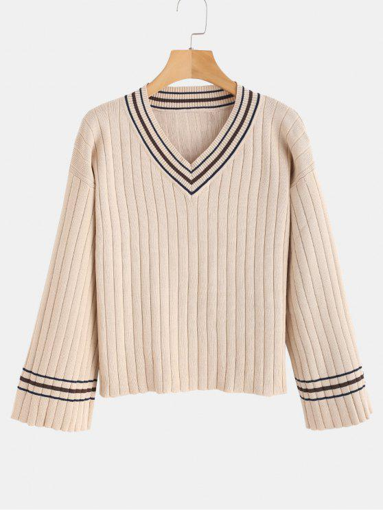 online Dropped Shoulder Cricket Sweater - WARM WHITE ONE SIZE