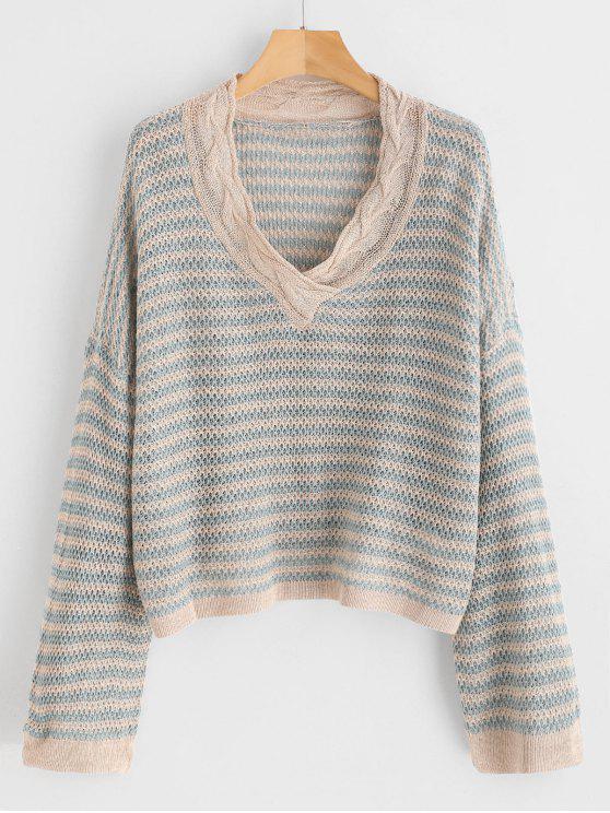 new Thread Striped Oversized Knitwear - MULTI ONE SIZE
