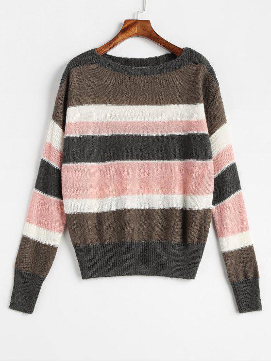 lady Wide Stripe Sweater - MULTI ONE SIZE