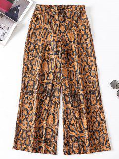 Pantalones Palazzo Con Estampado De Serpiente - Multicolor L