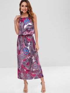 Vestido Largo Estampado Paisley - Multicolor M