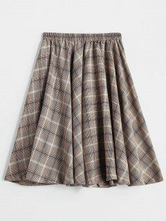 Checked A Line Skirt - Multi
