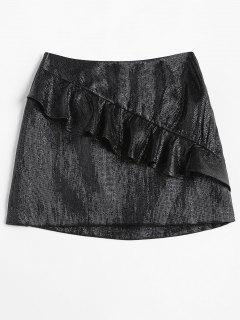 Short Ruffled Skirt - Black S