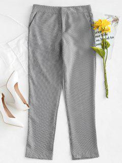 Pantalones Con Cremallera De Pata De Gallo - Multicolor M