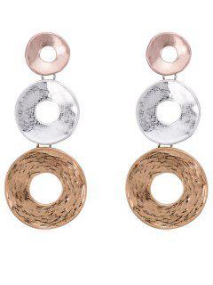 Boucles D'oreilles En Forme De Cercle -