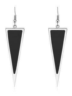 Triangle Geometric Shape Drop Earrings - Black