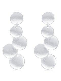 Boucles D'oreilles En Forme De Cercle à Disques - Argent