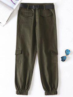 Pantalones Jogger Con Cinturón - Mocasín S