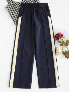 Pantalones Palazzo De Talle Alto Con Contraste - Marina De Guerra L