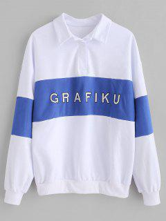 Letter Embroidered Sweatshirt - White