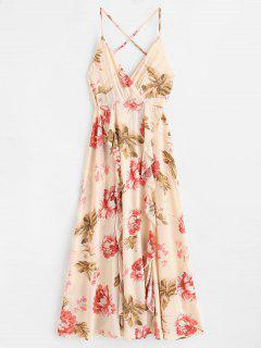 Ruffles Floral Maxi Cami Dress - Multi L