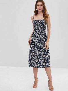 Floral Smocked Cami Dress - Midnight Blue