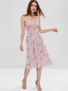 Floral Smocked Cami Dress - Light Pink