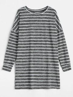 Striped Shift Dress - Multi M