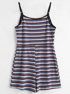 Ribbed Stripes Romper - Multi S