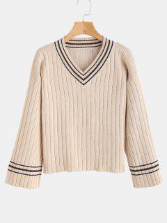 Dropped Shoulder Cricket Sweater - Warm White