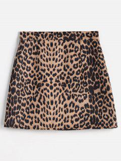 Leopard Bodycon Skirt - Leopard Xl