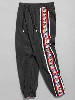 Pantalon De Jogging Logo Rayée à Ours Latérale - Noir L