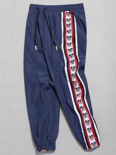 Pantalon De Jogging Logo Rayée à Ours Latérale - Cadetblue S