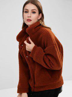 Fluffy Sherpa Faux Fur Winter Coat - Sienna L