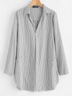 Robe Chemise à Rayures - Multi L