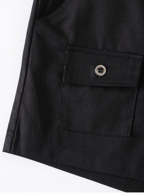 Shorts à ceinture avec fermeture éclair - Noir L Mobile