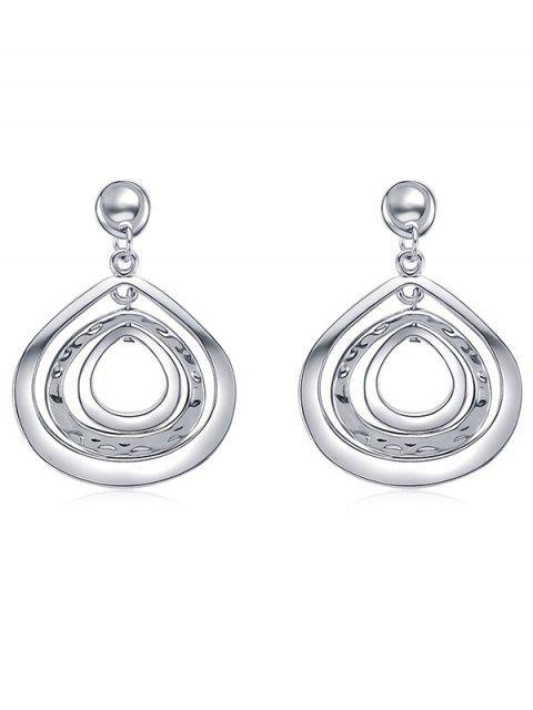 online Cut Out Teardrop Drop Earrings - SILVER  Mobile