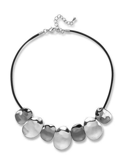Unregelmäßige runde Statement-Halskette - Schwarz  Mobile