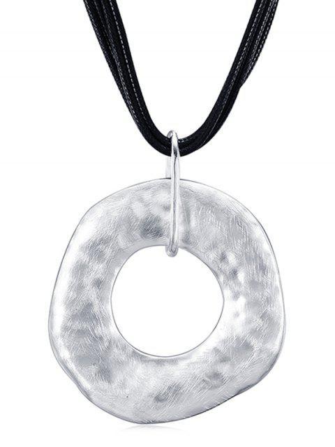 Unregelmäßige Kreis-Seil-Halskette - Silber  Mobile